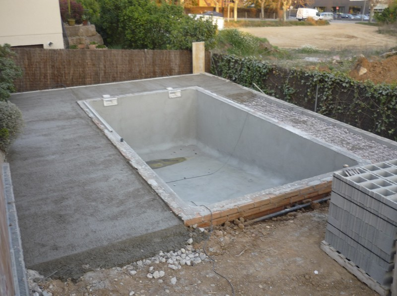 materiales para construir una piscina with materiales