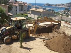 Piscines de fibra - Excavació